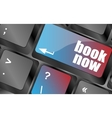Book now button on keyboard key web icon web vector image