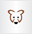 brown bear icon logo symbol vector image