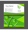 business card for your business in the material vector image