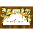 Calligraphy floral card vector image