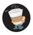 coffee large vector image vector image