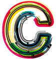 Colorful Grunge font LETTER C vector image vector image