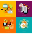 Cooking concept 4 flat icons square vector image