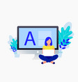 copyright blogging flat concept vector image