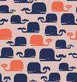 Cute pattern with whales vector image vector image