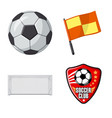 design of soccer and gear logo collection vector image