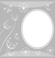drawing with flowers and insects vector image vector image