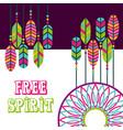 dream catcher feathers boho hippie free spirit vector image