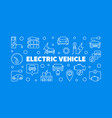 electric vehicle horizontal line banner ev vector image vector image