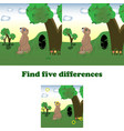 find five differences vector image