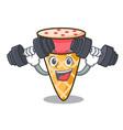 fitness ice cream tone character cartoon vector image vector image