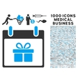 Gift Box Calendar Day Icon With 1000 Medical vector image vector image