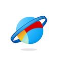 globe orbit planet logo vector image