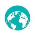 globe world eart map symbol vector image