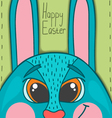 Happy Easter card with smile rabbit vector image vector image