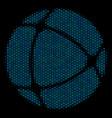 internet collage icon of halftone bubbles vector image vector image
