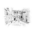 israel streets of jerusalem vector image vector image