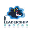 leadership skills infographic template vector image