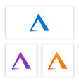 letter a logo template is triangular for your vector image