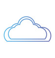 line nice cloud natural weather day vector image vector image