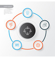 management icons set collection of present badge vector image vector image