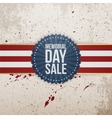 Memorial Day Sale festive Banner and Ribbon vector image vector image