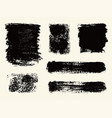 monochrome abstract grunge textures vector image vector image