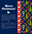 new year christmas card vector image vector image