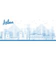 Outline Lisbon city skyline vector image vector image
