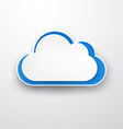 Paper white-blue cloud on white vector image vector image