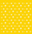 pattern with snowflakes yellow background vector image
