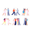 people high five social communication friends vector image