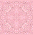 pink seamless abstract curved shape kaleidoscope vector image vector image
