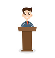 Public speaking flat design Orator speaking vector image vector image