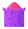 purple tower with blue roof icon cartoon style vector image vector image
