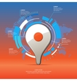 Realistic 3D icon map pointer vector image vector image