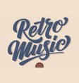 retro music volumetric hand drawn vector image