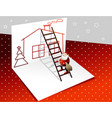 santa claus secret giving gifts vector image vector image