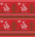 seamless pattern a knitted sweater reindeer vector image vector image