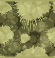 seamless pattern in green military colors vector image