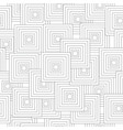 seamless pattern with abstract black squares vector image vector image