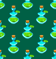 Seamless pattern with potion-2 vector image vector image