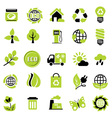 set eco signs vector image vector image