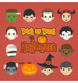 Set of halloween head trick or treat vector image vector image