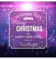 Shining christmas typographical background with vector image vector image