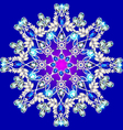 snowflake made of precious stones on a blu vector image vector image