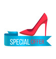 special offer shoe poster vector image vector image