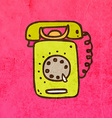 Telephone Cartoon vector image vector image