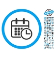 Timetable Flat Icon With Bonus vector image vector image