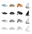 transport water submarine and other web icon in vector image vector image